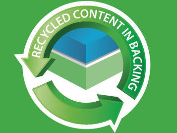 Recycled content in backing Eternal