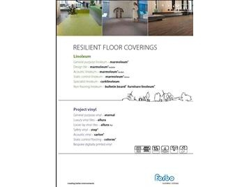 Download our Resilient Floor Covering brochure using the link opposite